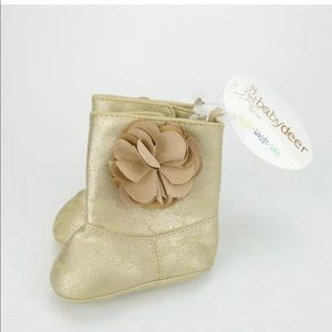 Baby Deer Infant Boots Flower 2 To 3 Months Girl